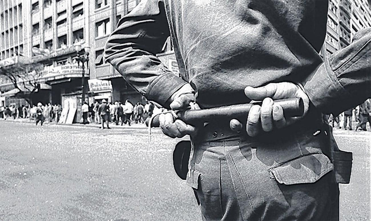 imagem que simboliza os anos de chumbo no Brasil