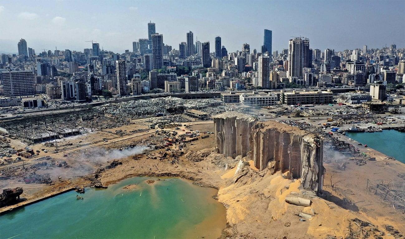 imagem d Beirute destruída