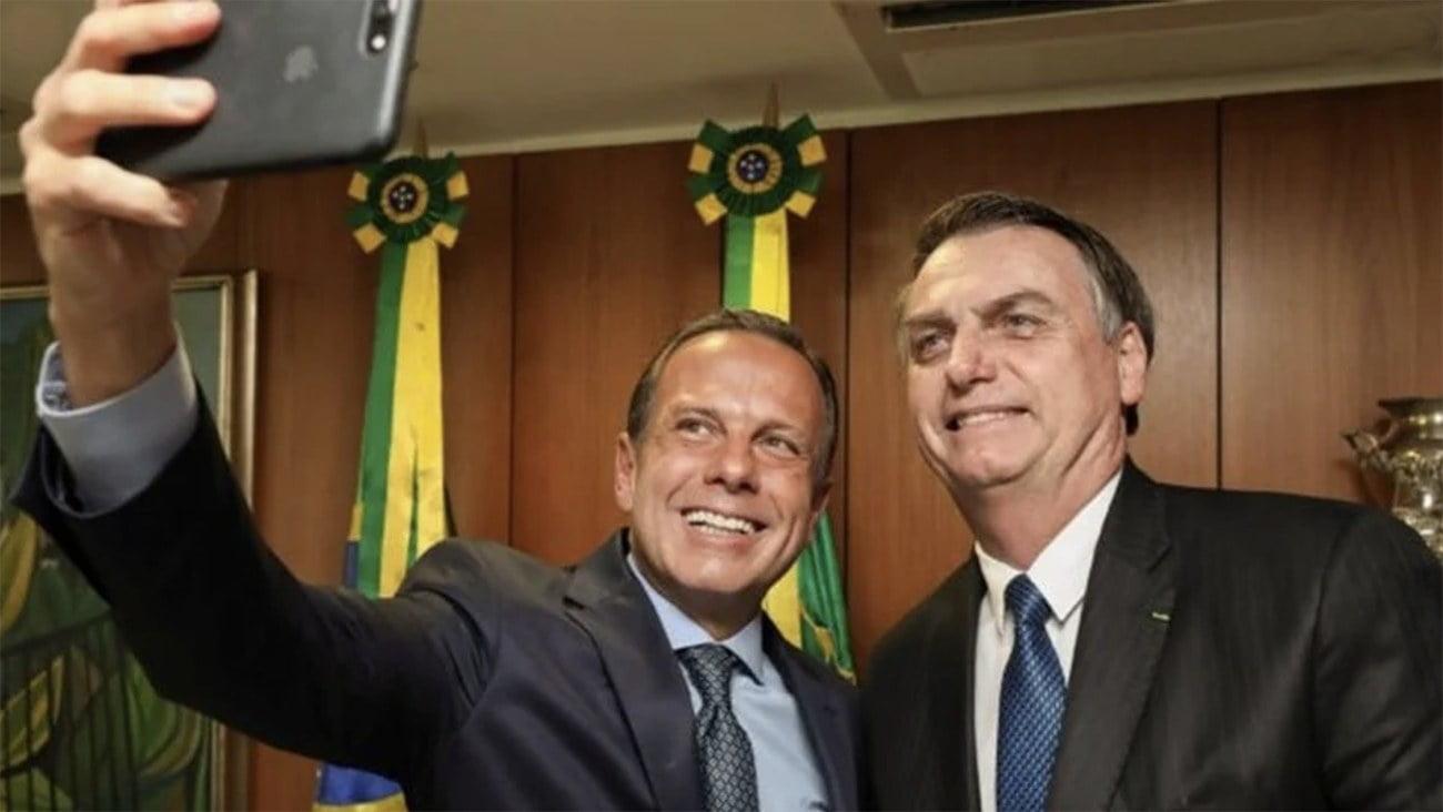 Image de João Doria e Jari Bolsonaro