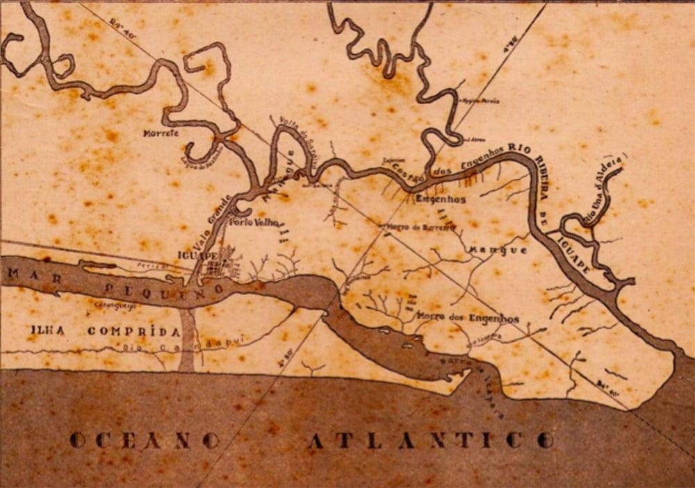 mapa da barragem do Canal do Valo Grande