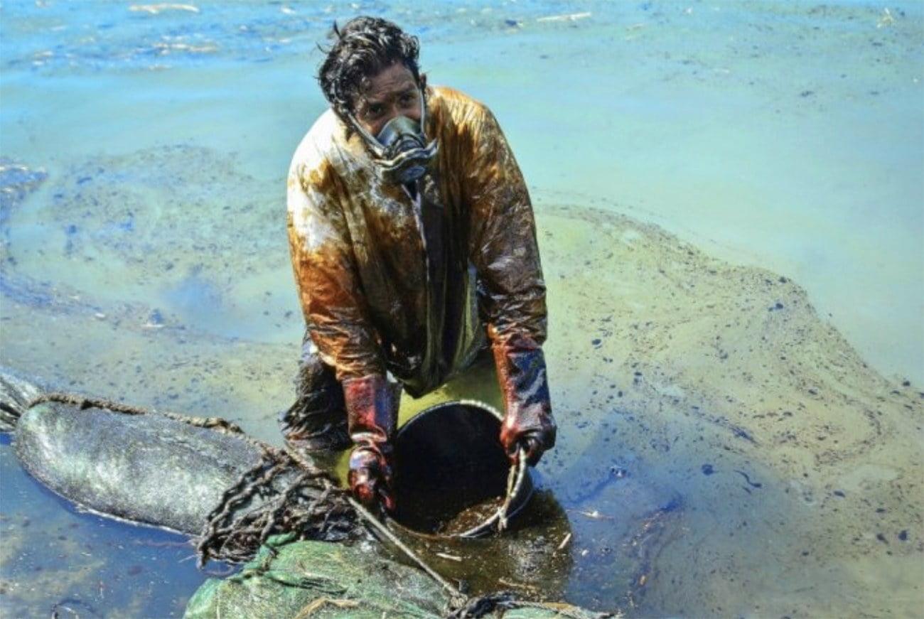 imagem de poluição nas Ilhas Maurício