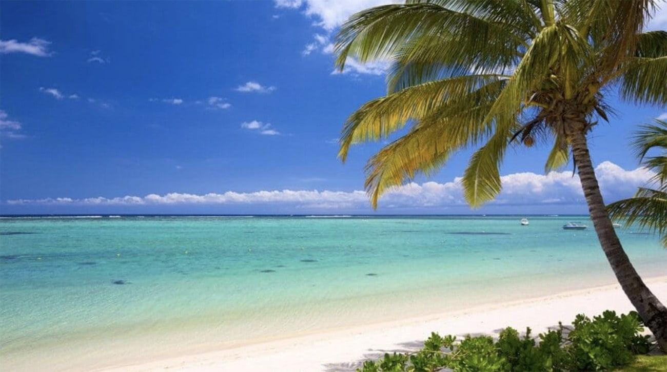 imagem de praia nas Ilhas Maurício