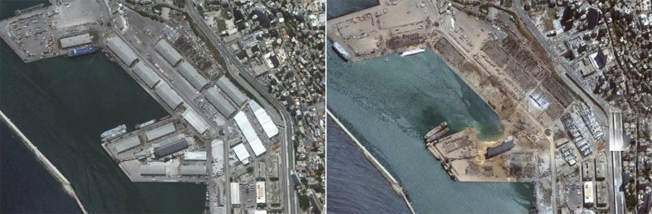 imagem de Beirute destruída