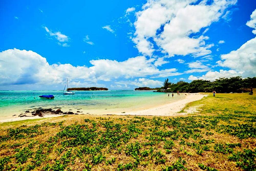 Imagem de lagoa nas Ilhas Maurício
