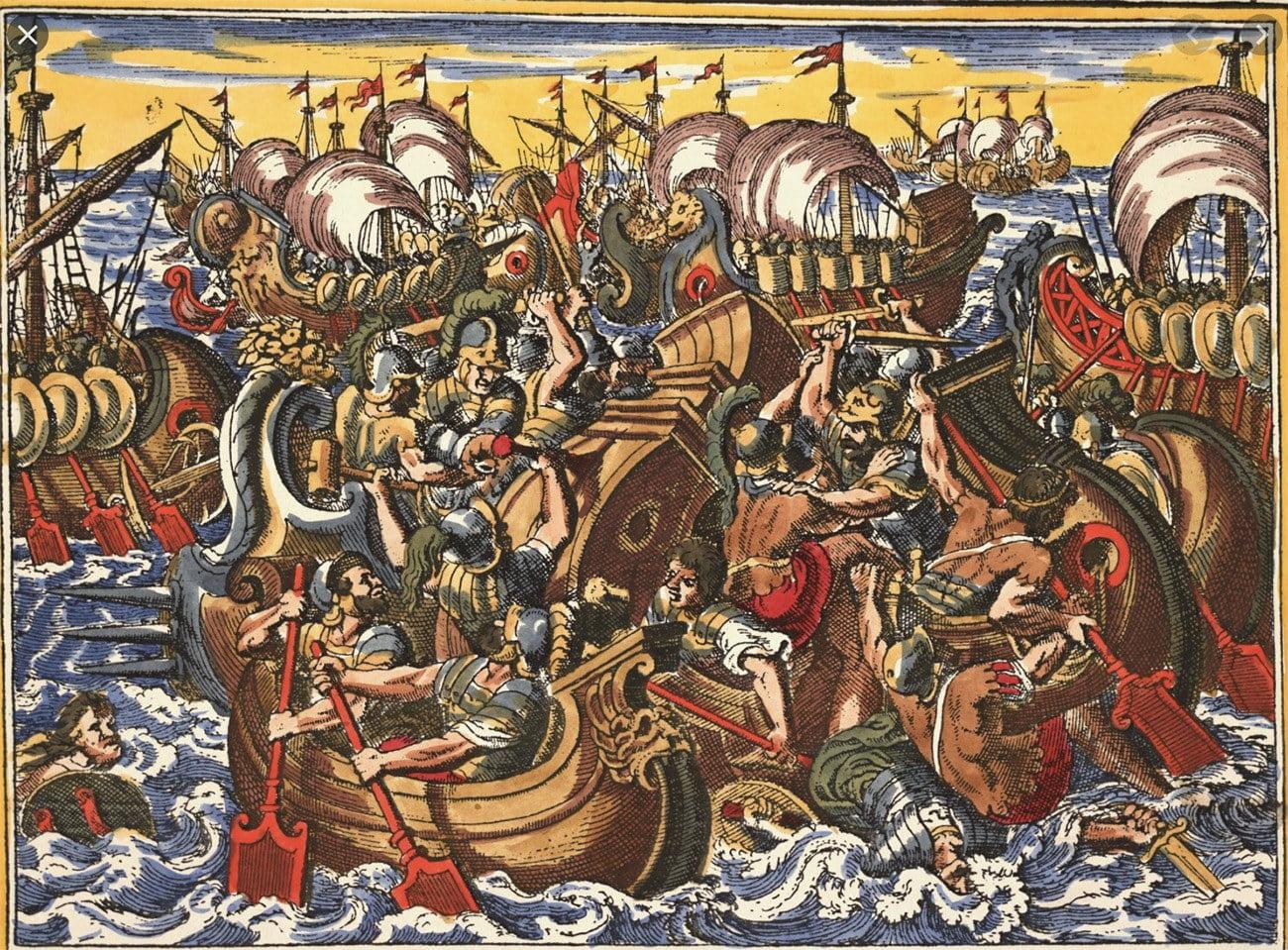 gravura da Guerra do Peloponeso