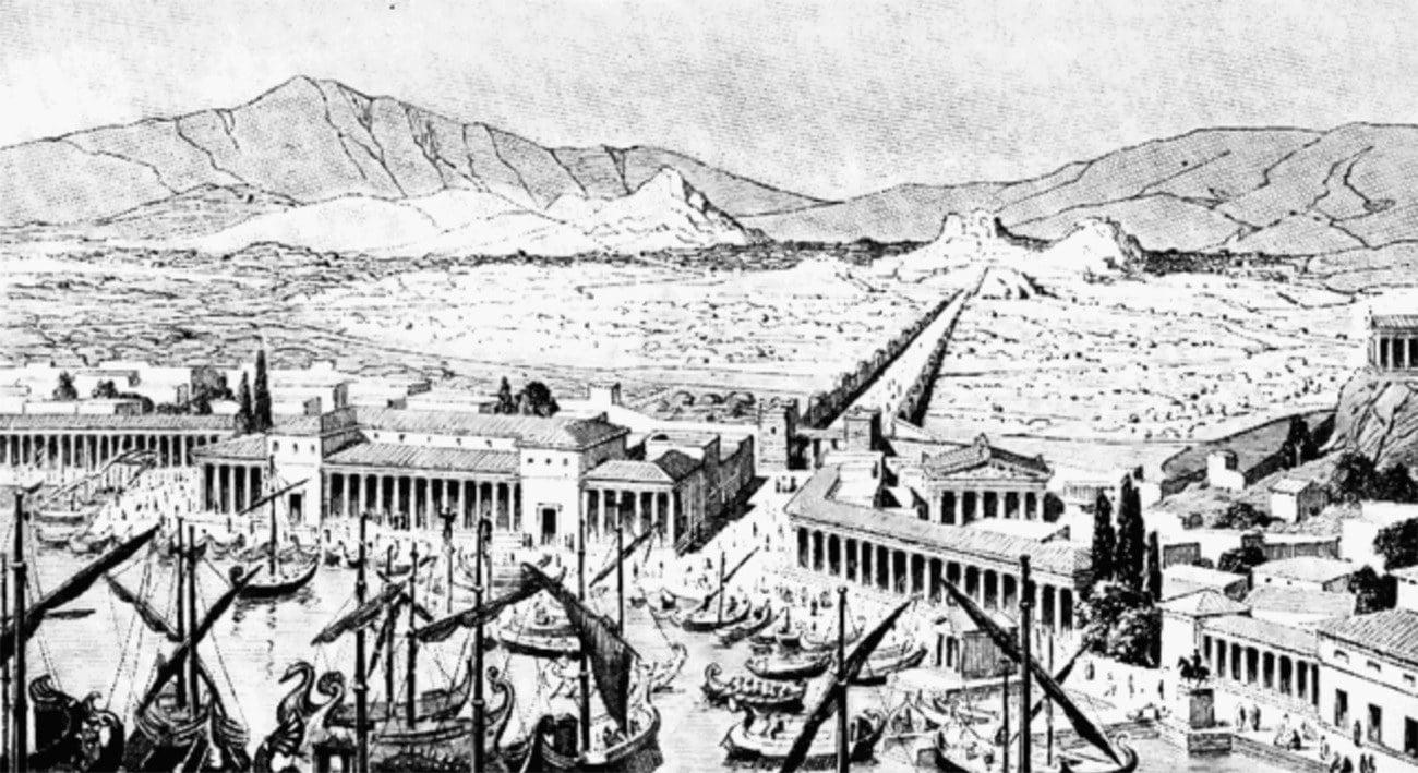 Gravura de Atenas em 440 a.C
