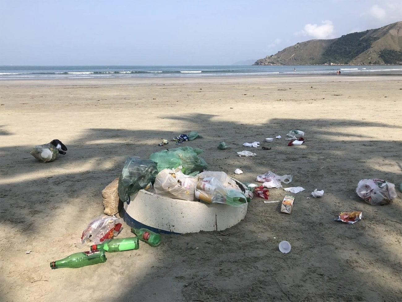 praia de Baraquecaba, litoral norte de SP