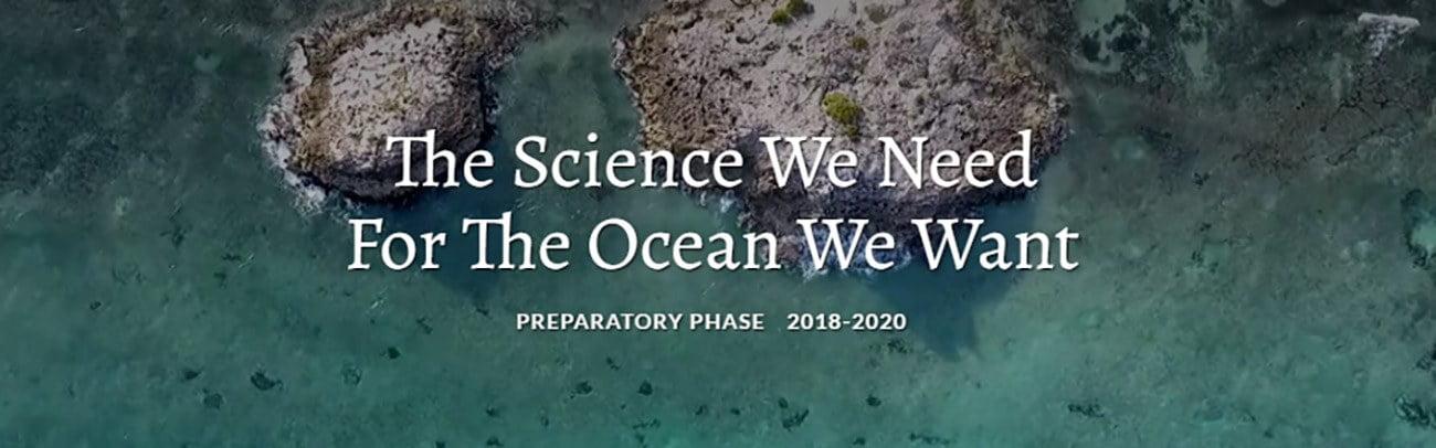cartaz alusivo à fase preparatória da década dos oceanos