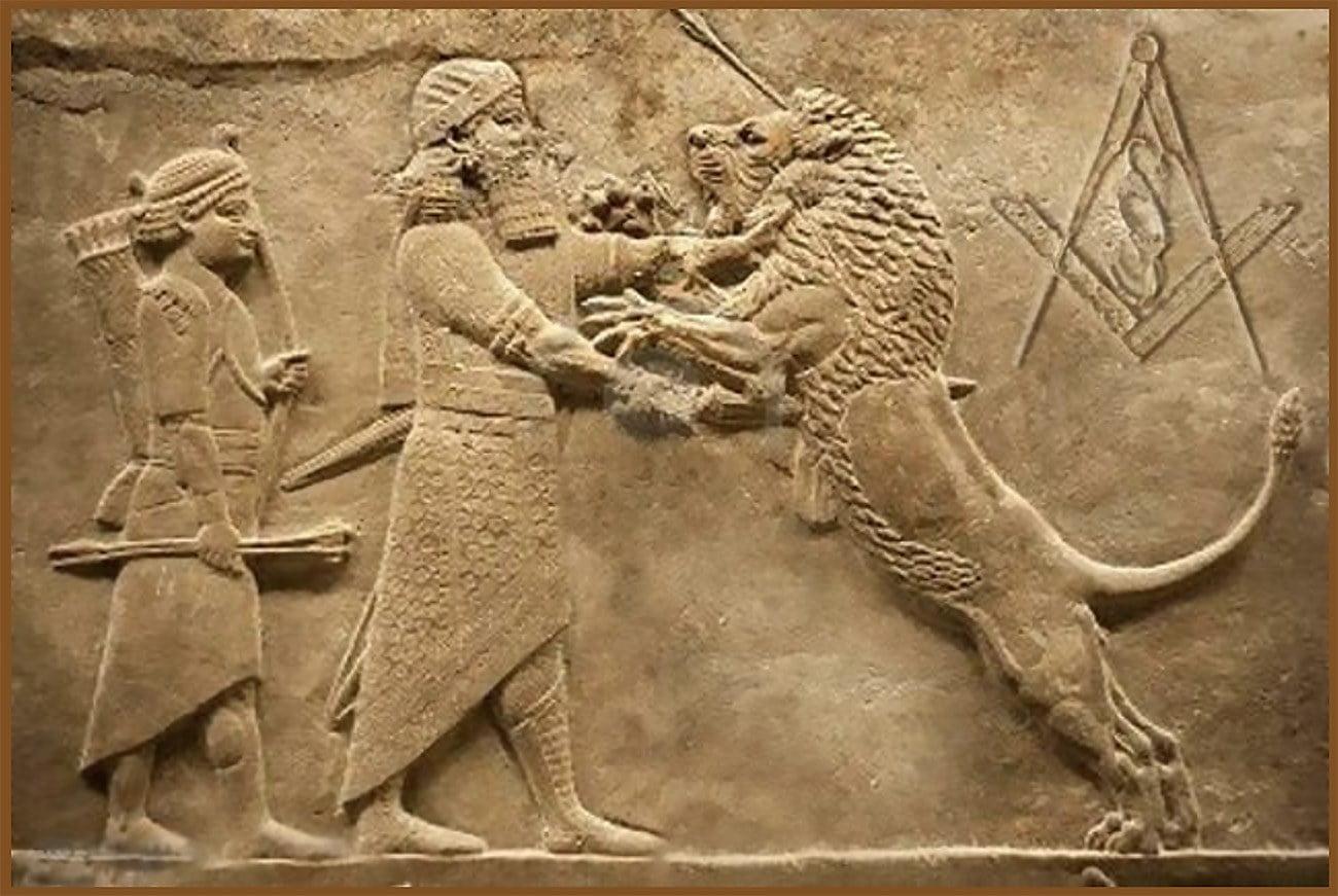 mural representando Gilgamesh