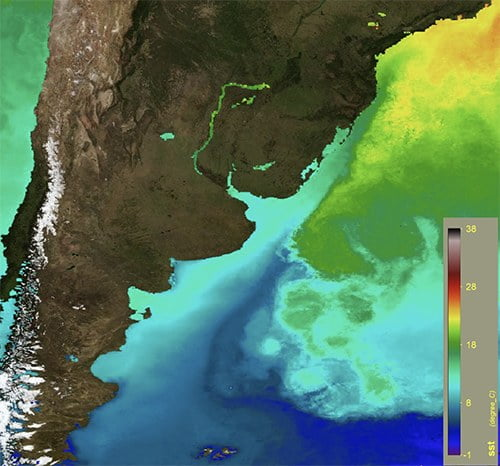 mapa do litoral da América do Sul