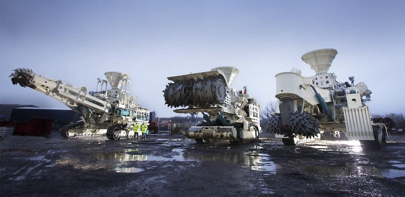 imagemde máquinas de mineração submarinas
