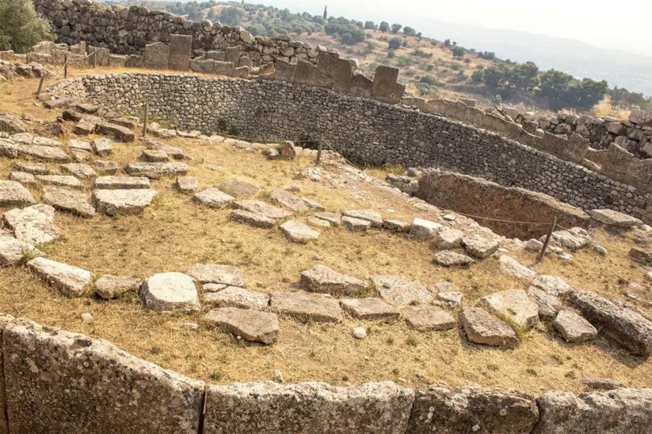 sítio arqueológico em Micenas