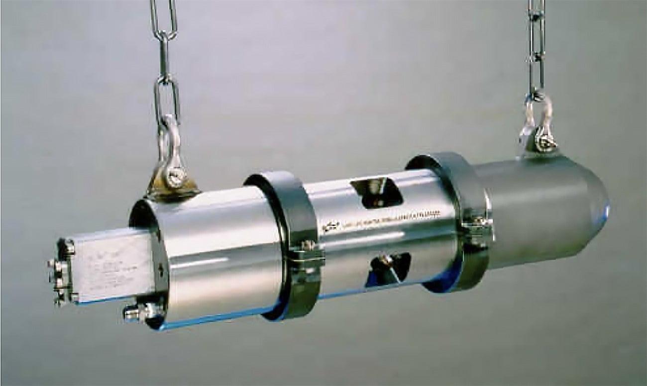 imagem de canhão de ar comprimido usado na sísmica