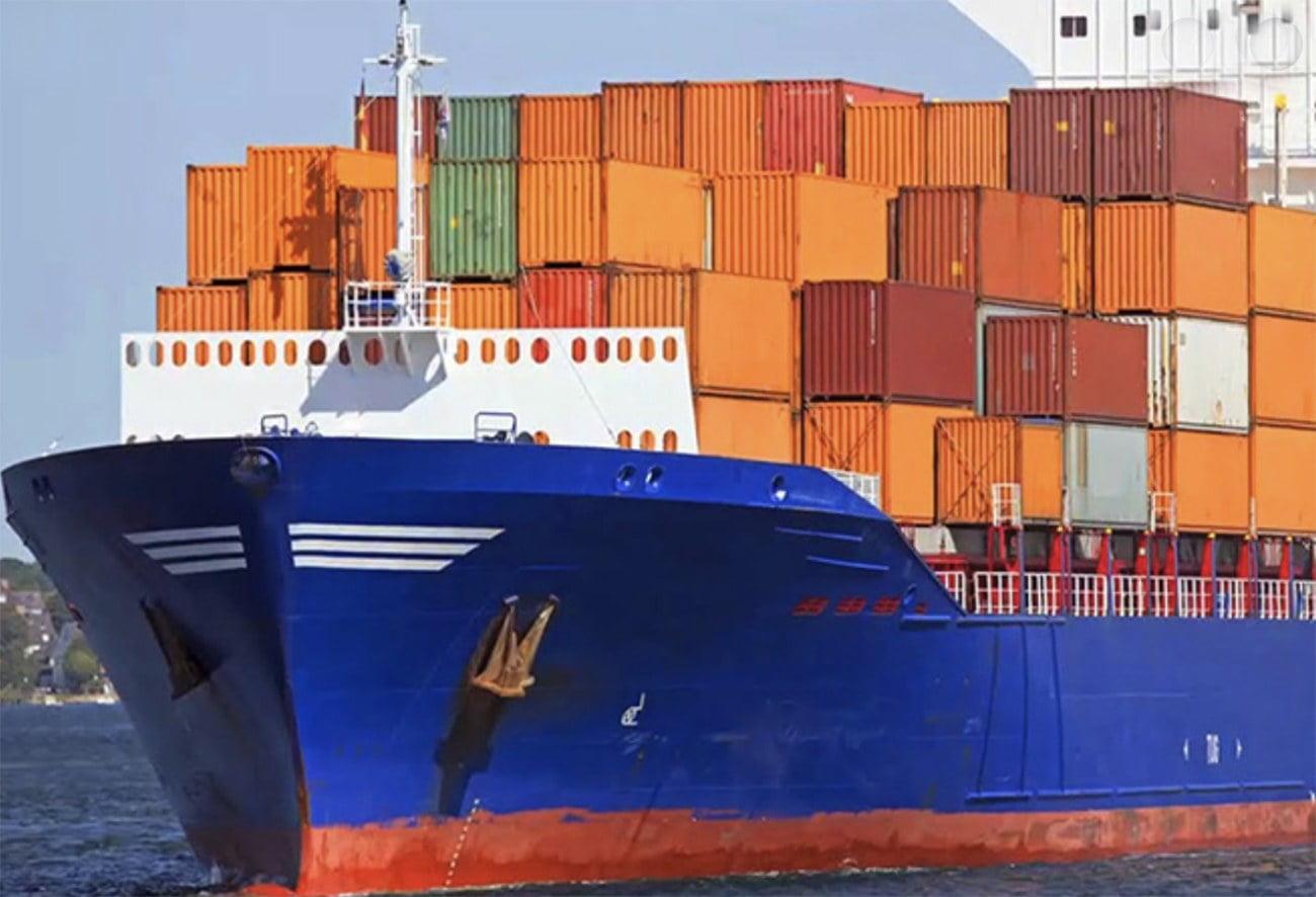 imagem de navio porta contêineres