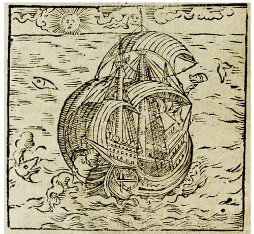 xilogravura da segunda viagem de Hans Staden
