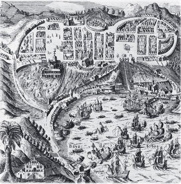 Gravura de Salvador em 1625