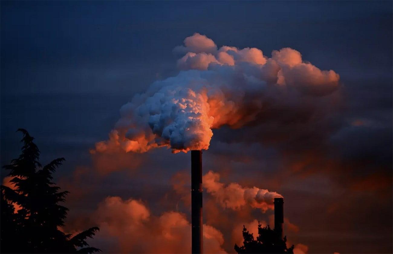 imagem de emissões de dióxido de carbono