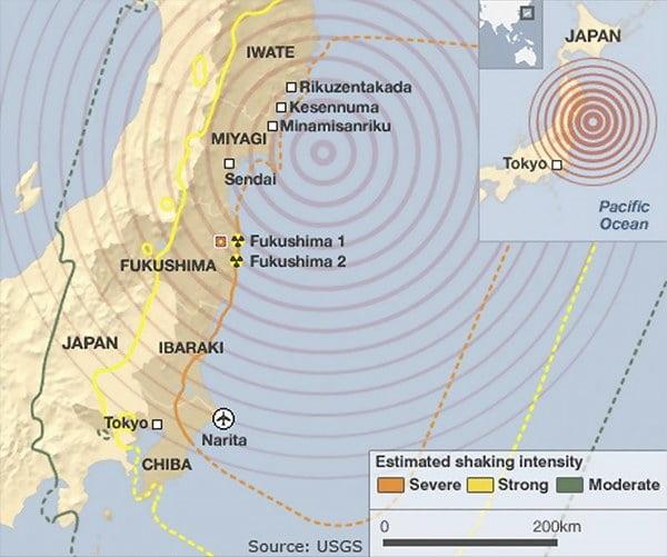 infográfico mostra efeitos do tsunami no Japão