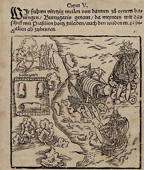 Uma das edições do livro de Hans Staden Duas Viagens ao Brasil