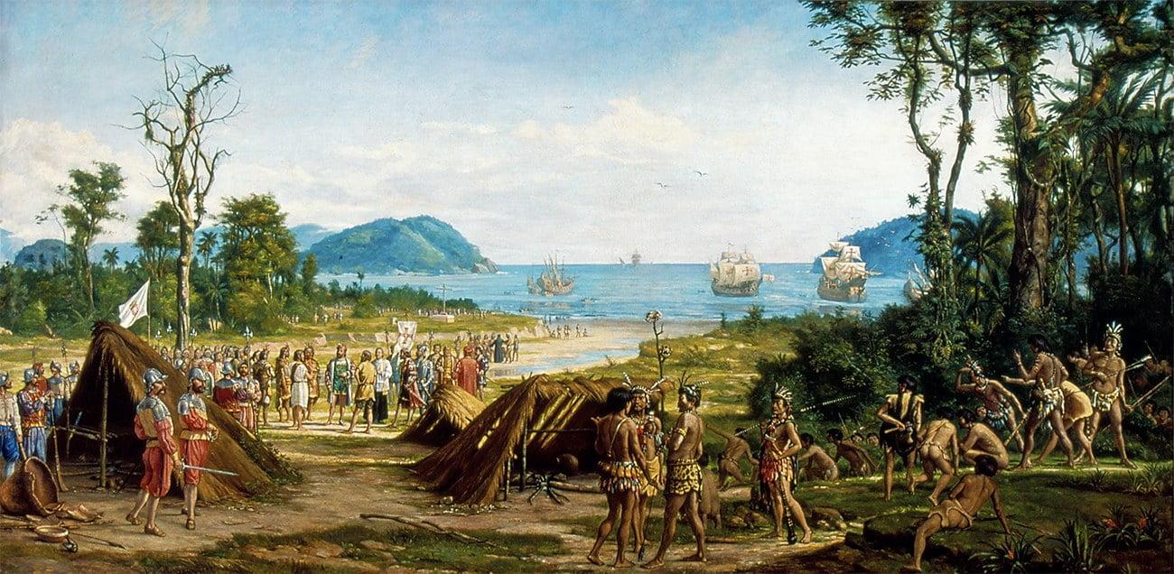 pintura mostra fundação de São Vicente