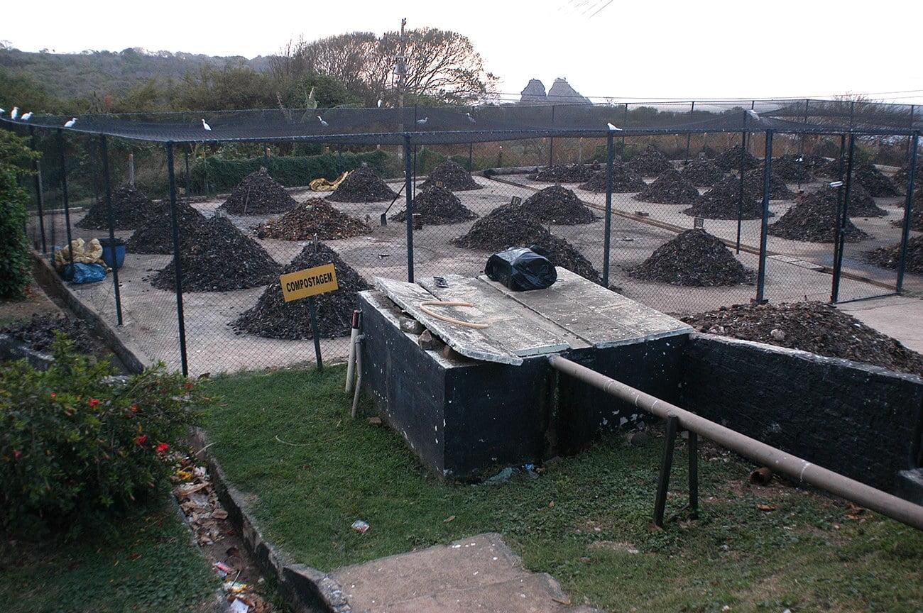 imagem da usina de compostagem em Fernando de Noronha