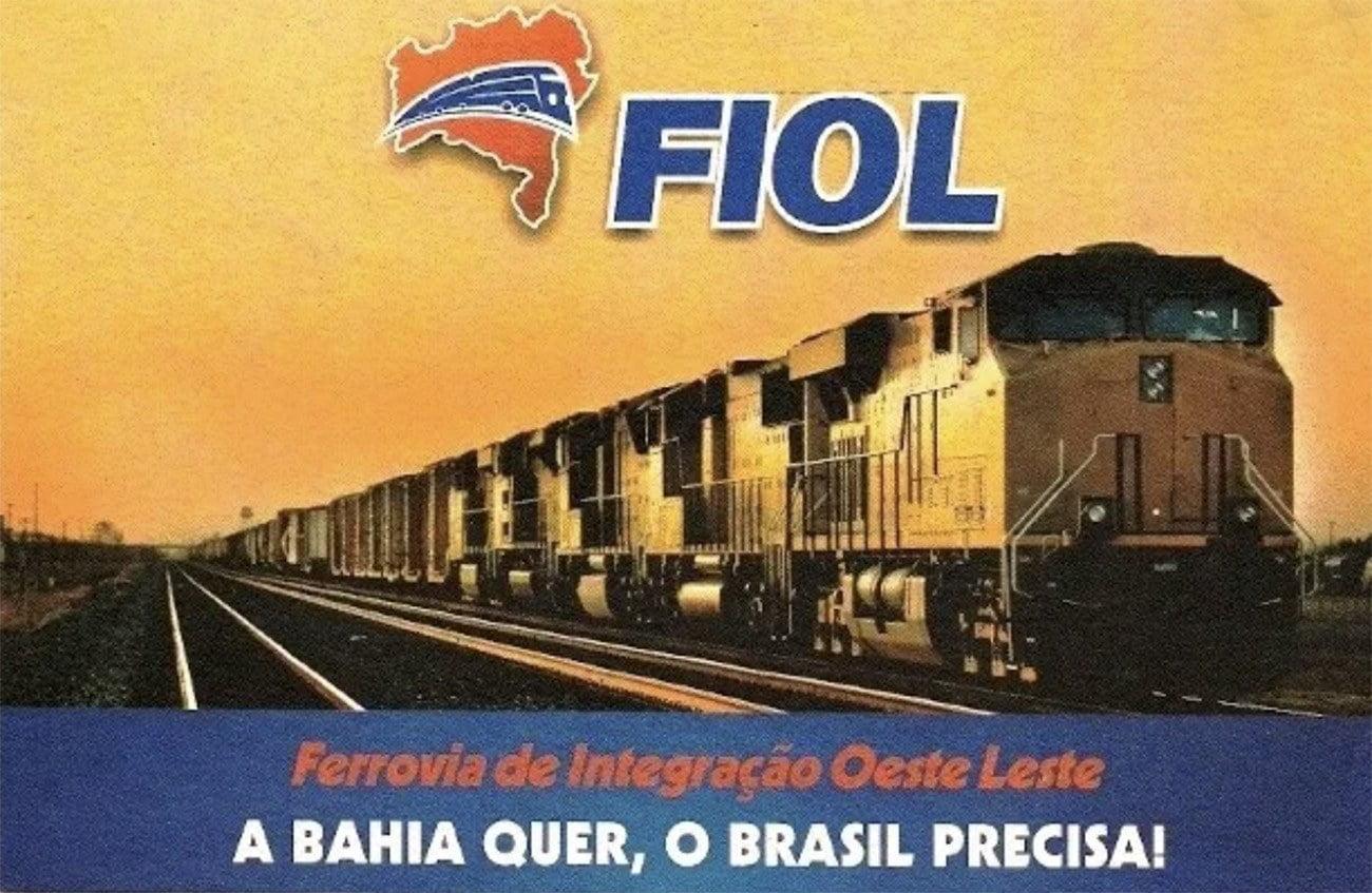 Ilustração da Ferrovia Oeste Leste, FIOL, Bahia