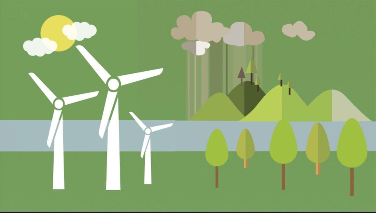 infográfico sobre crescimento da agenda verde