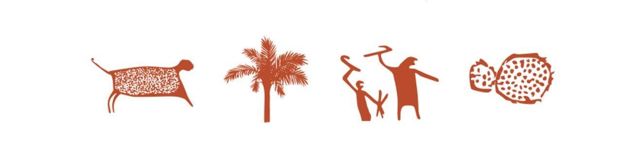 Ilustração de arte rupestre