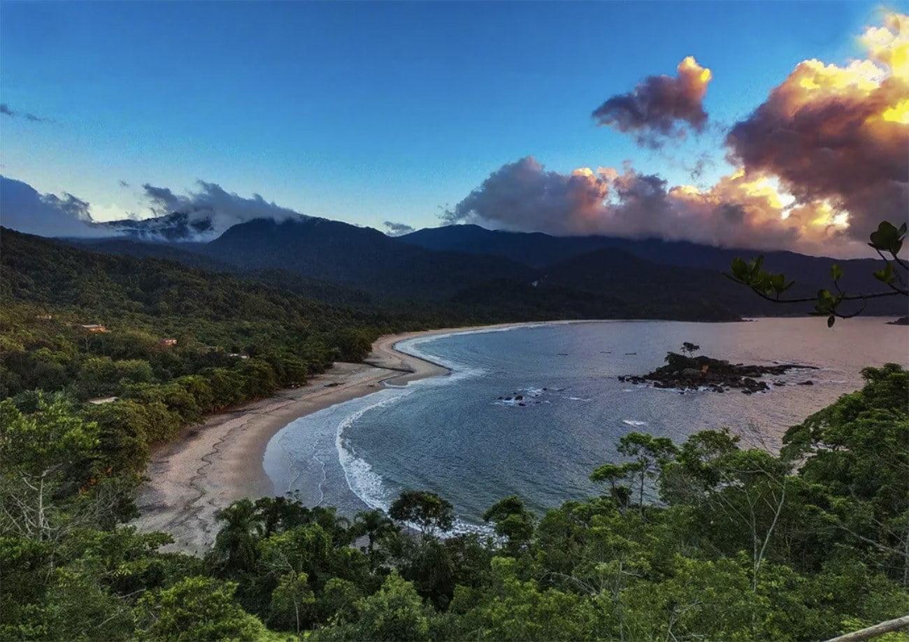 Imagem da Praia e baía dos Castelhanos, Ilhabela