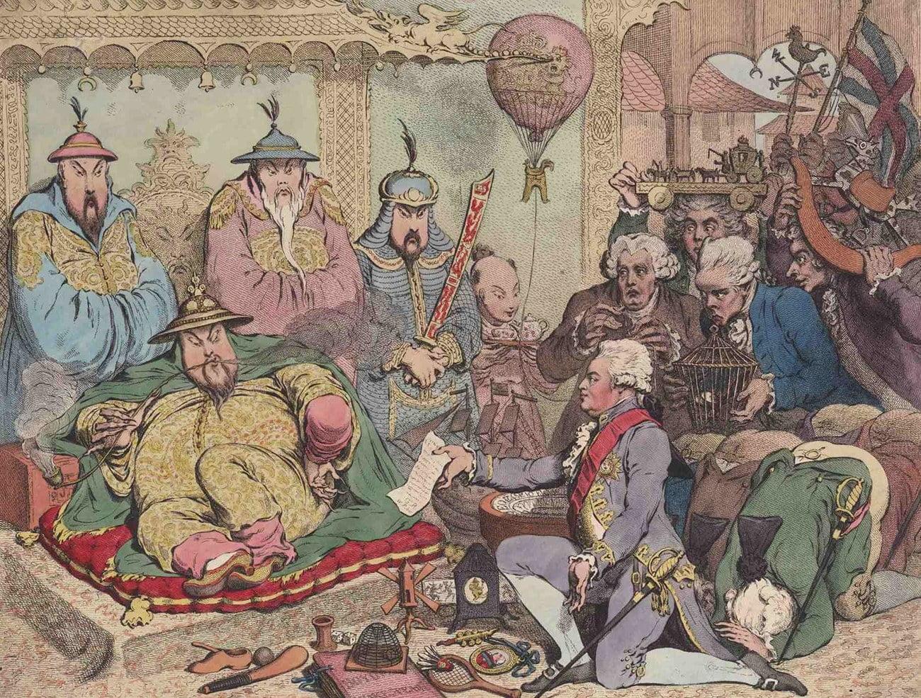 Gravura alusiva à Guerra do Ópio