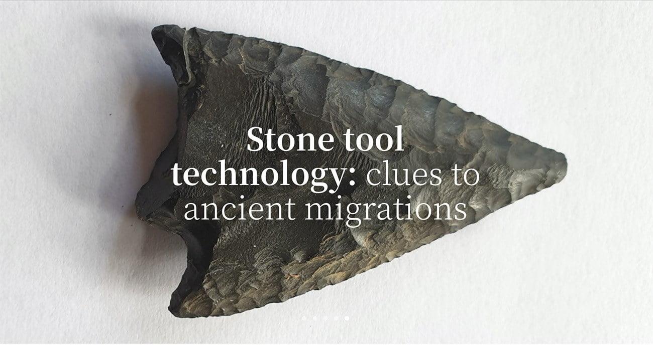 Imagem de ferramente de pedra da era do gelo