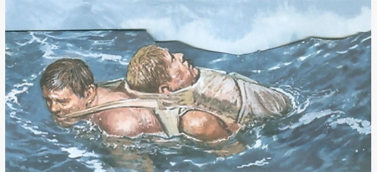 desenho de Kennedy náufrago