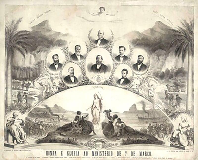 Desenho alusivo à Lei do Ventre Livre
