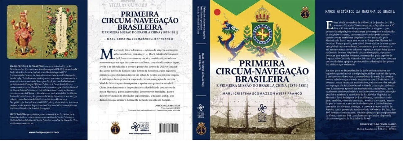 imagem do livro Primeira circum-navegação brasileira
