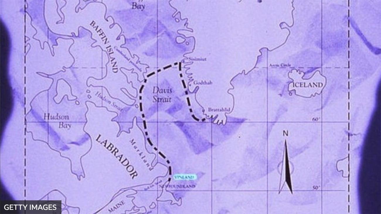 Imagem de mapa Viking