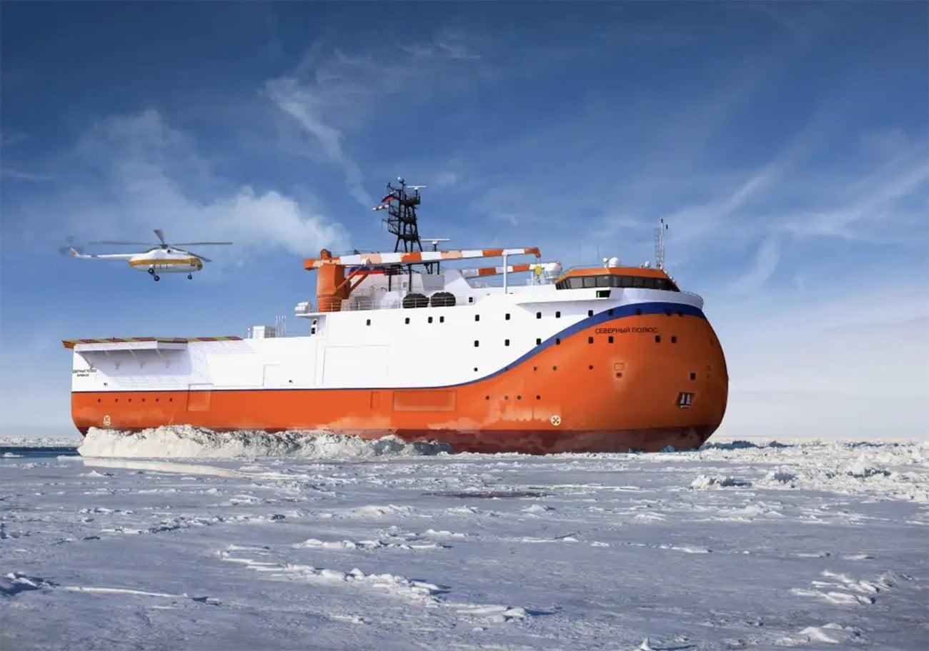 Imagem do novo navio russo Polo Norte