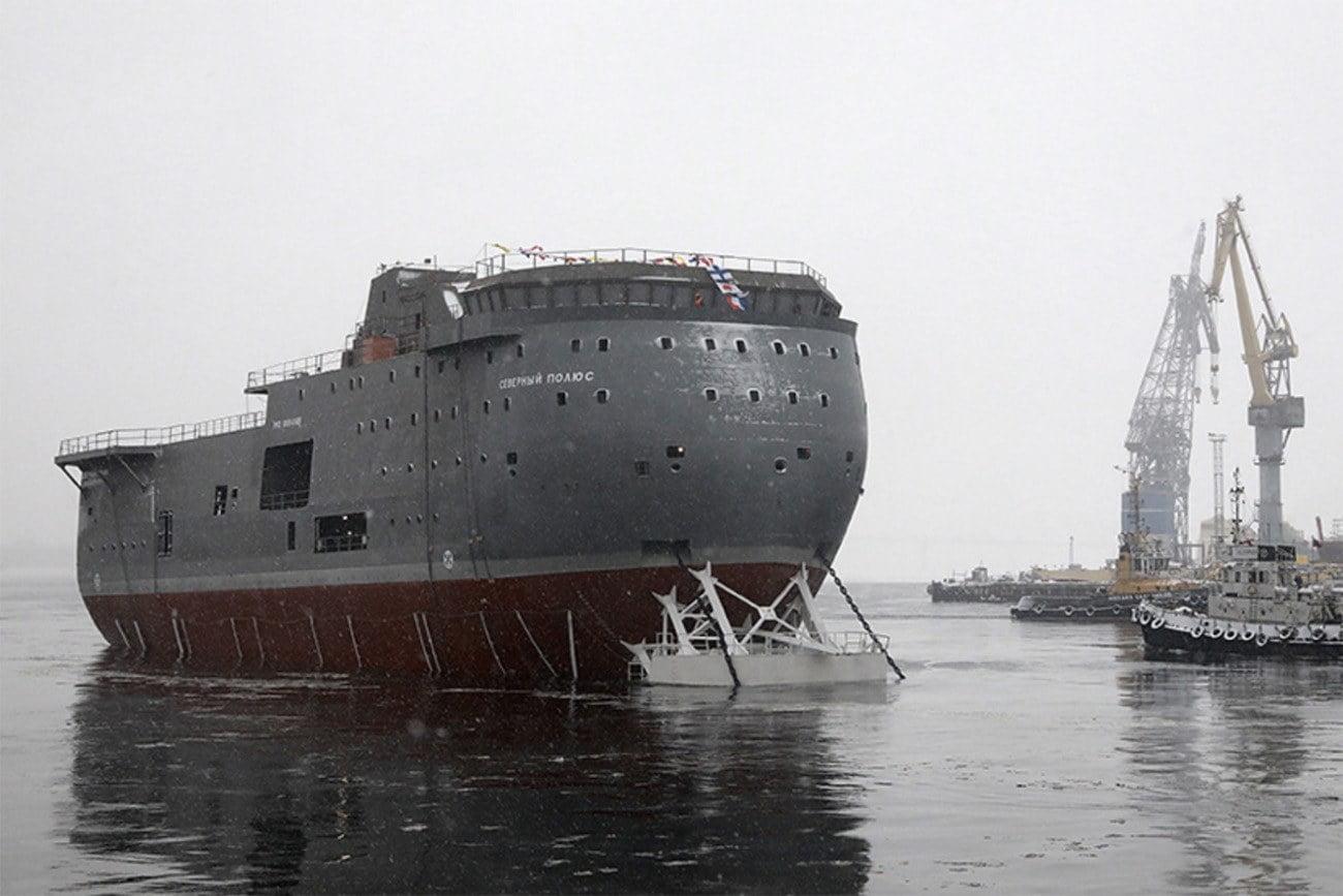 Imagem do novo navio russo Polo Norte.