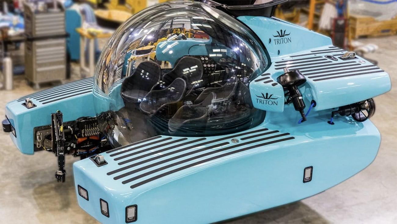 imagem do submarino particular Triton