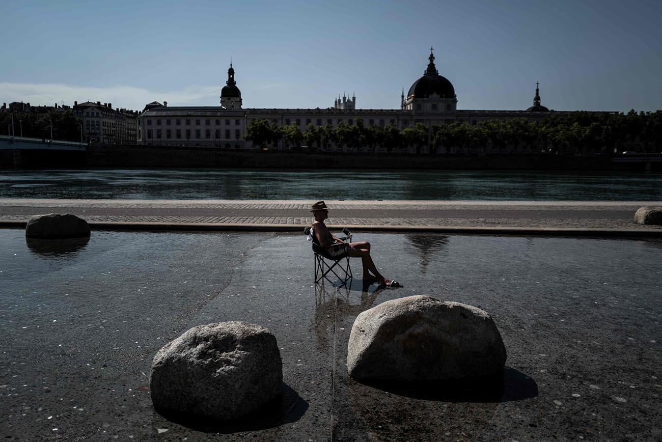 Imagem de calor extremo na Europa em 2020