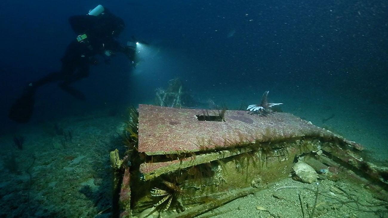 Imagem de mergulho para a série mistérios dos oceanos