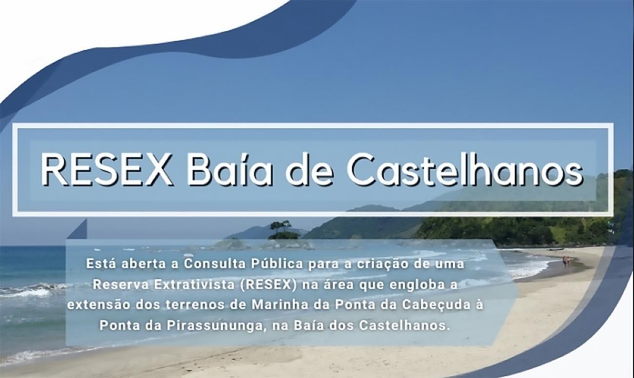 Infográfico Resex baía de Castelhanos