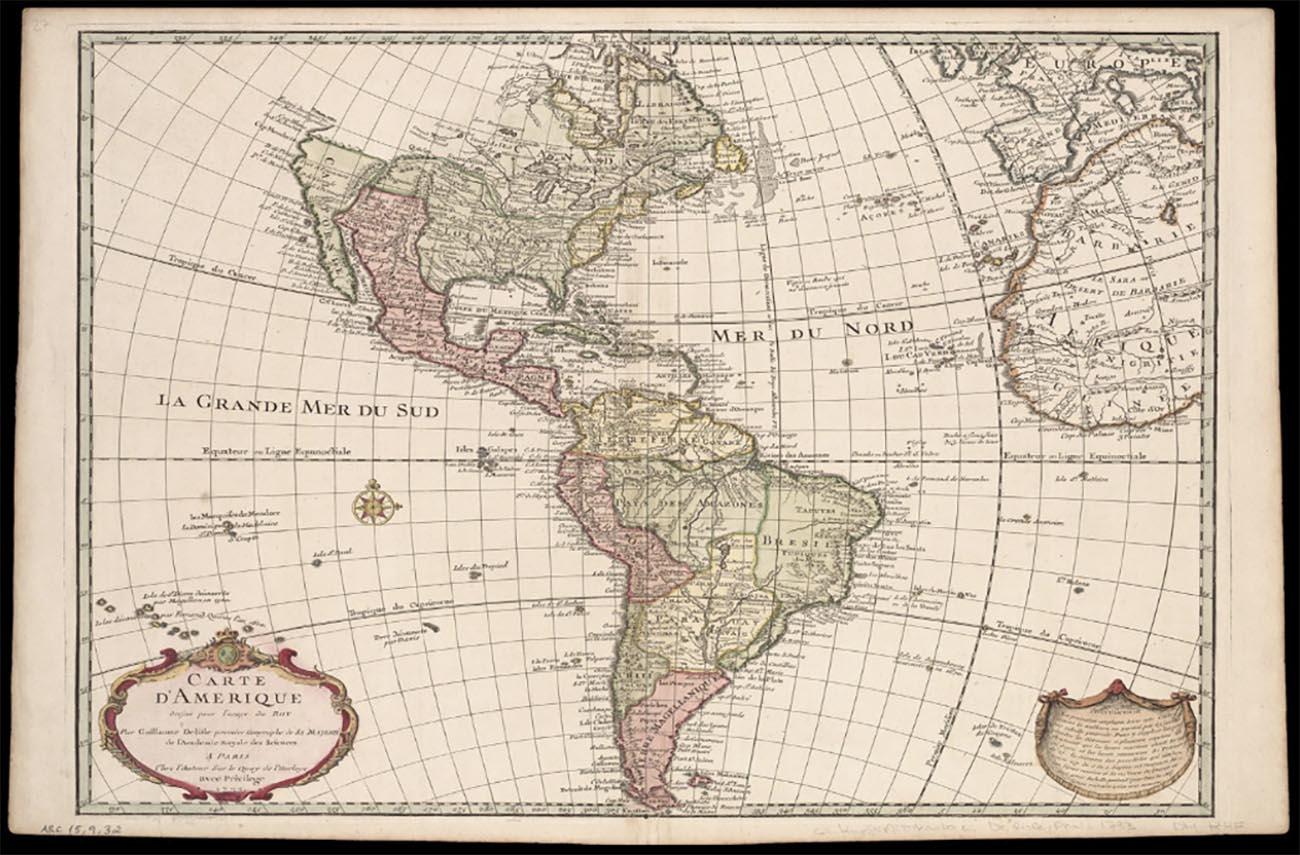 Imagem de mapa usado por corsários