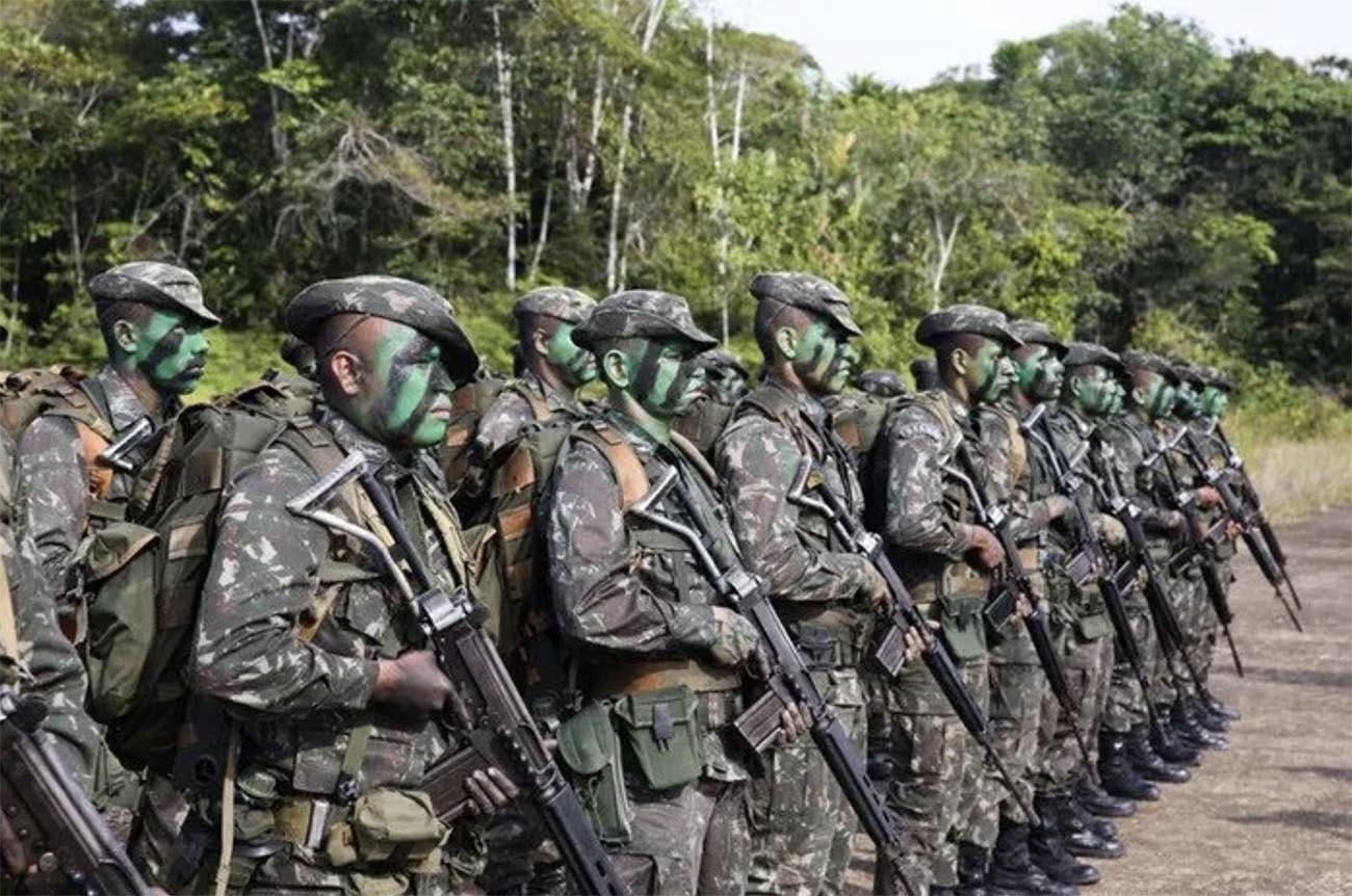 Imagem da operação Verde Brasil 2 na Amazônia