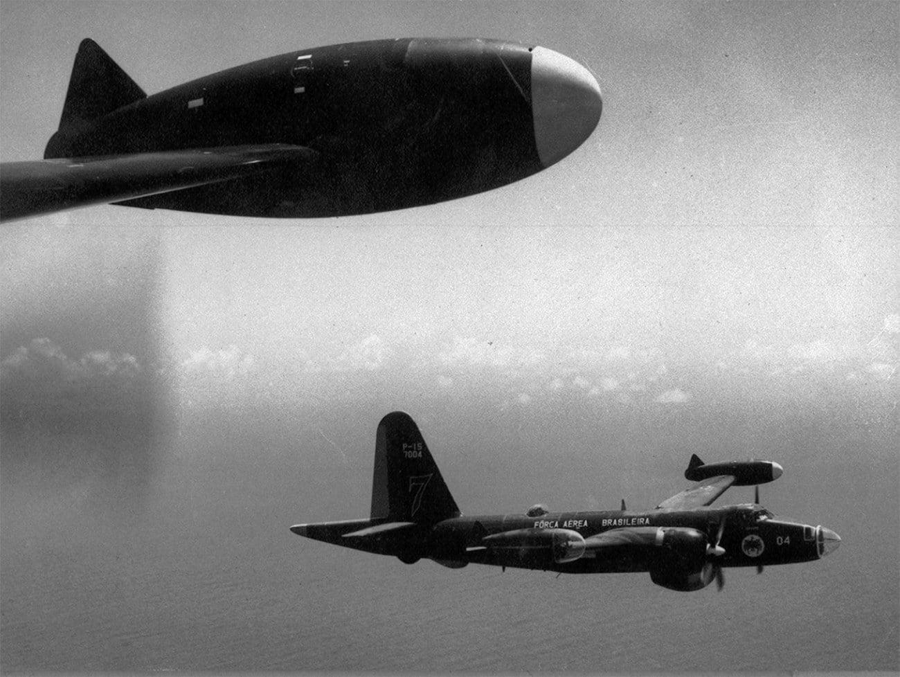 imagem de aviões da FAB na Guerra da Lagosta