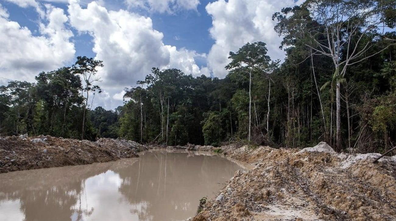 Imagem de garimpo em Roraima