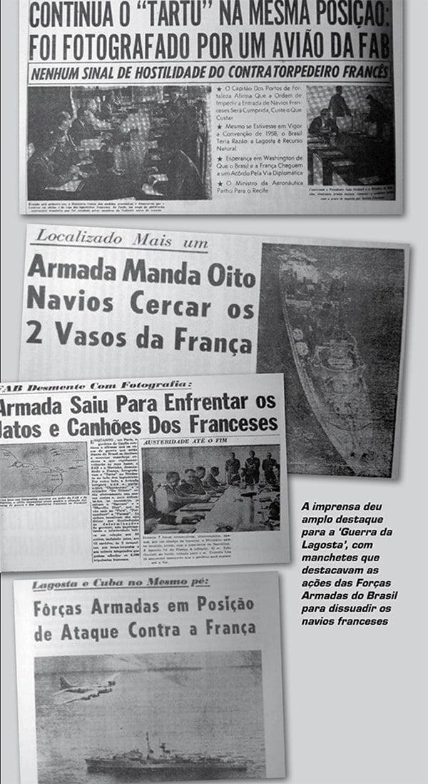 Imagen de jornais da época da guerra da lagosta