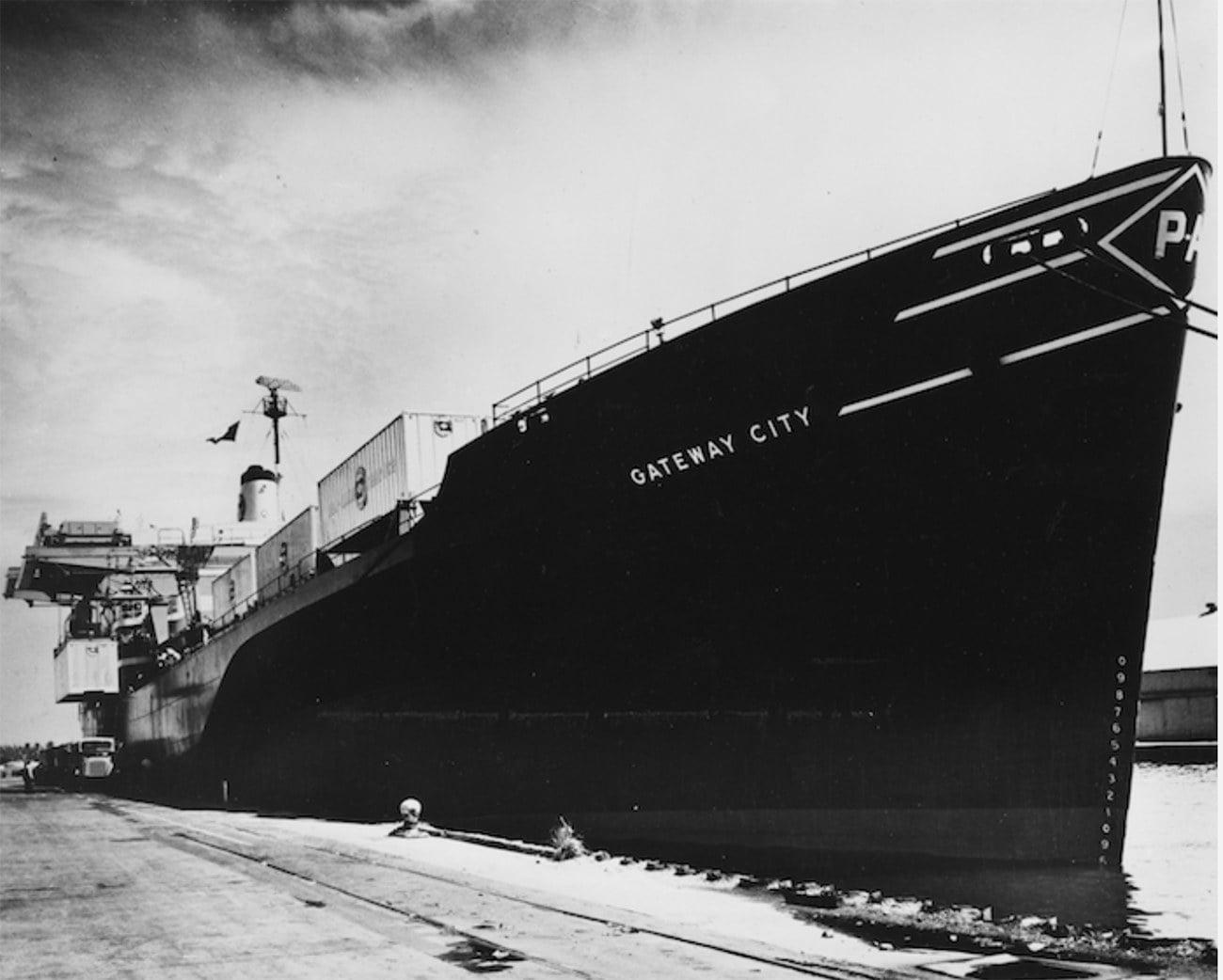 Imagem do navio porta contêiner Gateway City