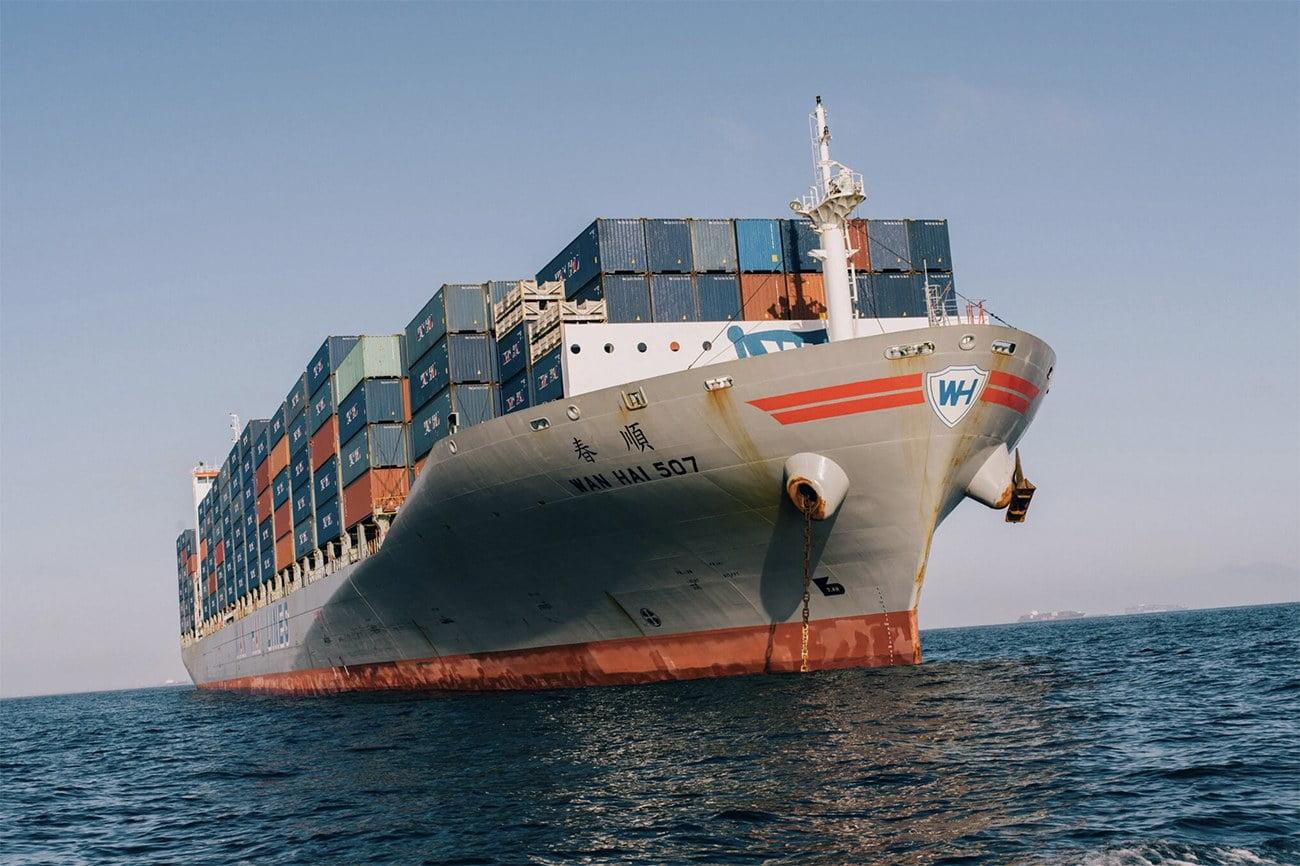 Imagem de navio porta contêiner