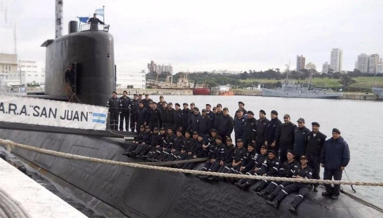 Imagem do submarino argentino Ara San Juan