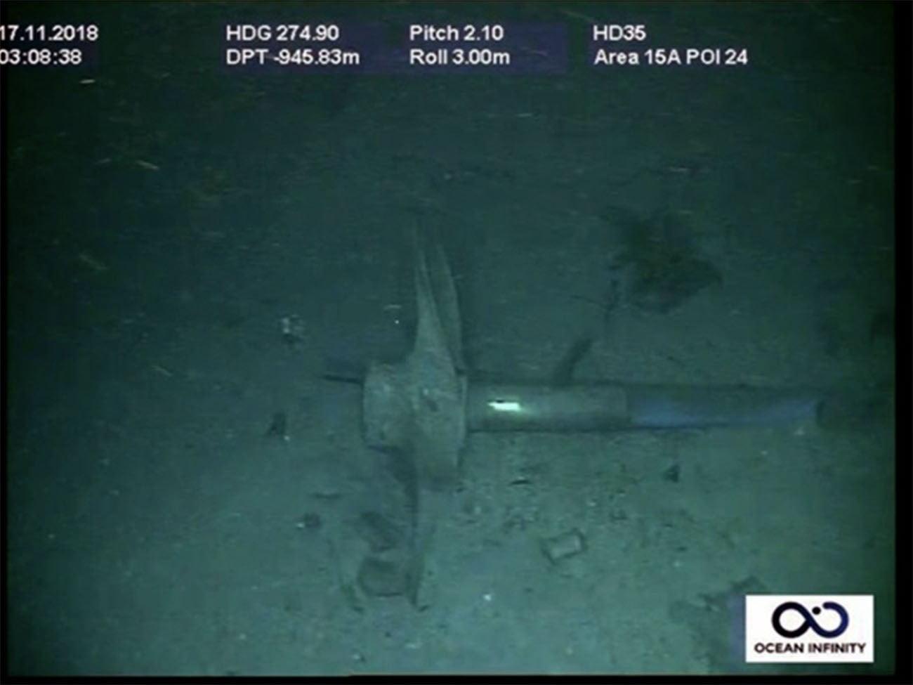 Imagem de destroços do submarino Ara San Juan naufragado